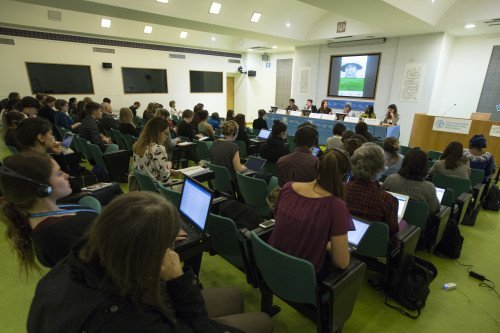 11 October 2017, Rome, Italy - Side Event - 51 - Women's roles and rights in situations of food crises, famines and conflict. Committee on World Food Security, 44th Session (CFS 44), 9-13 October 2017. Organizers: CFS Civil Society Mechanism (CSM). FAO headquarters, (Iran Room).  Copyright ©FAO. Editorial use only. Photo credit must be given: ©FAO/Riccardo De Luca