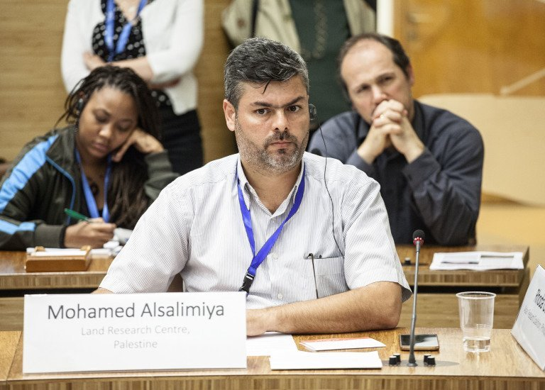 12 October 2017, Rome Italy - Committee on World Food Security CFS 44 Side Event - 55 - Global Hearing of the Landless. How to effectively secure and institutionalize the Land Rights of the Landless Poor? CSM Constituency of the Landless, formed by Landless Movements from all continents. Committee on World Food Security, 44th Session (CFS 44), 09-13 October 2017, FAO headquarters, (Philippines Room).  Photo credit must be given: ©FAO/Giuseppe Carotenuto. Editorial use only. Copyright ©FAO.