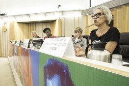 25 September 2017, Rome, Italy - Miriam Nobre – World March of Women. Forum on Women's Empowerment in the Context of Food Security and Nutrition, FAO Headquarters, (Red Room).